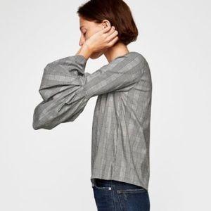 Zara Woman • Printed Bell Sleeve